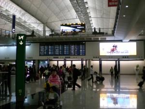 香港到着ロビー